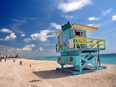 Art Print of South Beach, Miami. South Beach in Miami, Florida. South Beach Miami, South Florida, Miami Florida, Cruise Miami, Visit Florida, Best Vacation Destinations, Best Vacations, Amazing Destinations, Vacation Deals