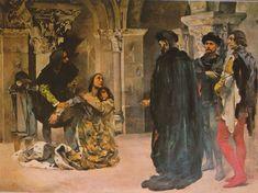 """""""Os Lusíadas"""" Luís Vaz de Camões — Súplica de Inês de Castro por Columbano (1902)"""