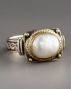 Pearl Ring by Konstantino at Neiman Marcus.