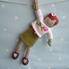 Hand-knitted doll from boobiloo.