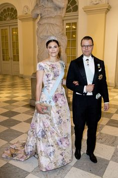 The Tiaras Were Out in Full Force for Crown Prince Frederik's Birthday Party Victoria Prince, Princess Victoria Of Sweden, Crown Princess Victoria, Olaf, Casa Real, 50th Birthday Party, Royal House, Crown Royal, Royal Fashion