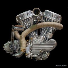NO 15: Iron Pit / Frank van Geffen Panhead MOTORCYCLE Engine by Gordon Calder, via Flickr