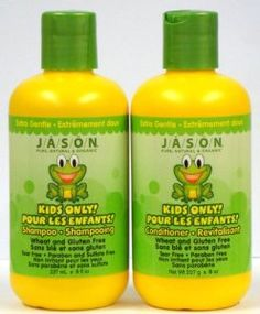 Jason Kids Only Extra Gentle Duo Set Shampoo & Conditioner, 8 Oz by Jason. $10.98. Safe and natural ingredients are crucial to a child's health and wellness. Free of harsh chemicals and contains an abundance of natural essential oils and extracts to protect, hydrate and soothe. Delicious natural fruity flavors and fragrances to make bathing time fun. Paraben and Sulfate Free - Wheat and Gluten Free - Tear and Phthalate Free - Fluoride and Glycol Free - Mineral Oil, Lanolin a...