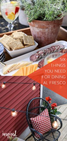 6 Things You Need for Dining Al Fresco | Outdoor Entertaining Tips