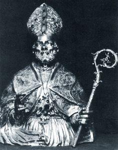 Argentiere napoletano (fine XVII sec.), busto di S. Pardo trafugato nel 1971