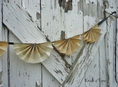 Repurposed Vintage book pages into bunting