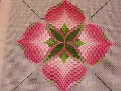 by Colorado needleartist/designer Toni Gerdes. Isn't this a beautiful adaptation of the bargello pomegranate? Toni Gerdes did a wonderful...