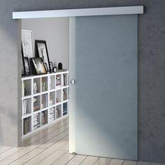 Durovin modern frosted internal glass sliding door