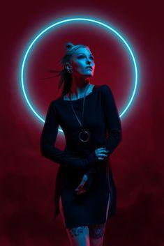 ArtStation - † Neon Witches †, Aku 悪 Character Inspiration, Character Art, Art Cyberpunk, Portrait Photography, Fashion Photography, Photoshop Photography, Neon Light, Neon Girl, Plakat Design