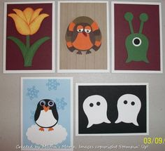 Owl Punch ATCs by Muffin's Mama - at Splitcoaststampers