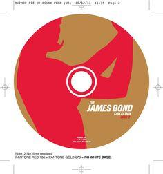 The James Bond collection CD onbody disc 2. Client: Silva Screen Records. Circa 2002. © Sean Mowle.