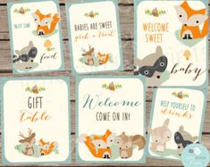 Winter WOODLAND Baby Shower Decorations by littlebirdieprints