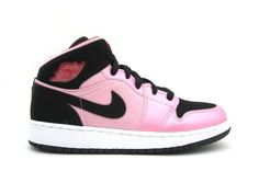 factory authentic 135fa b0981 Nike Girls Air Jordan 1 Mid (GS) / Color: Ion Pink/Gym Red/Whie/Black 555112 -608
