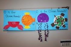 Tot School - Letter Oo is for Ocean and Owen! Owen and Eli: 41 months old We hit up the library before the week began and chose lots of Oce. Under The Sea Crafts, Under The Sea Theme, Preschool Crafts, Fun Crafts, Crafts For Kids, Preschool Alphabet, Ocean Activities, Preschool Activities, Paper Plate Crafts