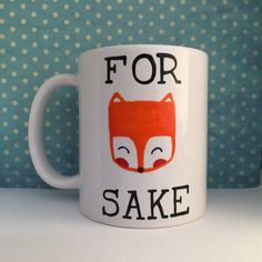 And finally, this adorably punny mug. | 21 Adorable Fox Products You Need In Your Life