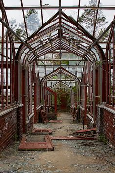 Abandoned Green House. OK.......well...........if no one wants it........... I'll make space