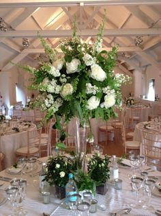 Classic White And Green Wedding at Stoke Place Hotel Wedding Inspiration, Wedding Ideas, Stoke Place, White Rose Centerpieces, Christmas Decorations, Table Decorations, Green Wedding, Classic White, White Roses