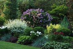 hortensien garten Breathtaking Perennial Gardens - lots of ideas for combining colors and textures of plants and shrubs. If you need inspiration, this is your site! Garden Shrubs, Shade Garden, Lawn And Garden, Gravel Garden, Garden Bar, Fruit Garden, Landscape Design, Garden Design, Sloped Landscape