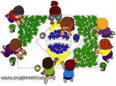 Bandeira do Brasil com carimbo das mãos Kids Rugs, Education, Html, Spaces, Brazil Flag, School Supplies For Teachers, Citizenship Activities, Visual Arts, Photo Galleries