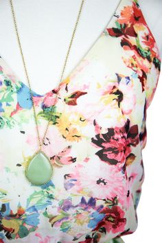 Green Stone Necklace — The Impeccable Pig Online Boutique