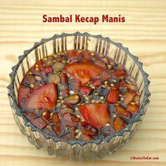 Indonesian chili sweet soy sauce ( sambal kecap manis )