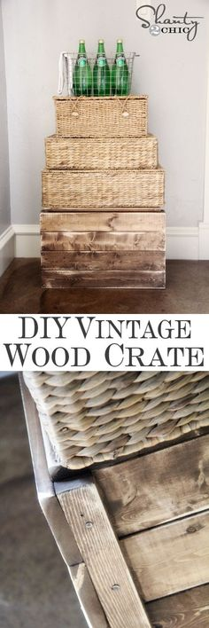 DIY Rustic Wood Crate for