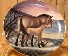 "Collectible PLATE Last of Their Kind: ""PRZEWALSKI'S HORSE"" by Will Nelson, 1991"