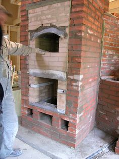 Pizza Oven Outdoor, Fours, Stove Fireplace, Heating And Cooling, Buildings, Cool Stuff, Wood, Home Decor, Chair