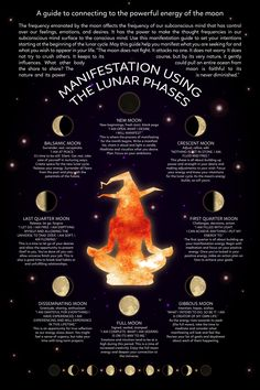 Witch Craft Manifestation Using the Lunar Phases a guide to connecting to the powerful energy of the moon moon witch lunar witch witch and moon black moon witchcraft witches new moon Wiccan Spell Book, Wiccan Witch, Magick Spells, Witch Rituals, Green Witchcraft, Healing Spells, Spell Books, New Moon Rituals, Full Moon Ritual