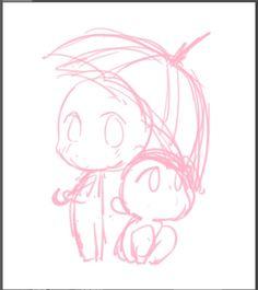 Chibi Sketch, Anime Sketch, Figure Drawing Reference, Drawing Reference Poses, Art Drawings Sketches Simple, Cute Drawings, Arte Gundam, Sketch Poses, Art Base