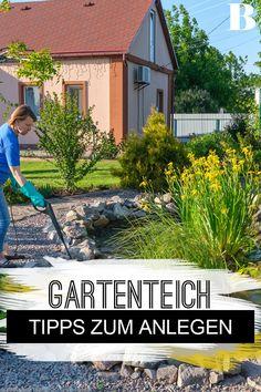 Gartenteich anlegen: In 5 Schritten zur eigenen Oase. Ihr wollt einen eigenen Gartenteich anlegen? Von uns gibts eine detaillierte Anleitung, mit der ihr im Handumdrehen euer eigenes Paradies zaubert. #garten #teich #gartengestaltung #gartenteich