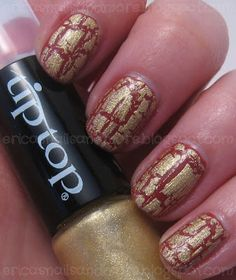 Julep Claudette and Tip Top Nails Shattered