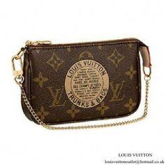 401dd070dcbb Louis Vuitton M60153 Mini Pochette Accessoires Trunks Monogram Canvas   Guccihandbags Louis Vuitton Clutch