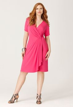 Go bold...no matter your size ladies! Dress from Avenue.Com