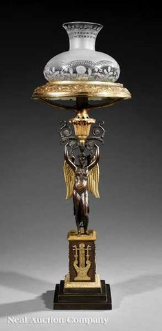 Early 19th cent Sinumbra lamp, French style