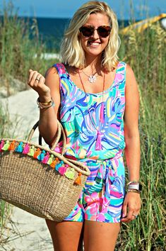 ef9372a37db Vacation in Lilly - Lilly Pulitzer Exotic Garden Rina Romper  Summer Style   Theprofessionalprep.