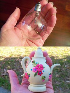 recycle a lightbulb into teapot