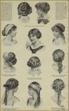 Hairstyles of the 1910s.