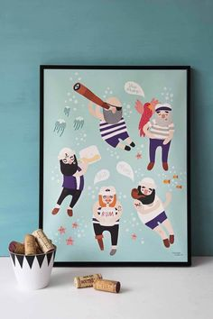 Sailor Friends Poster