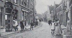 Overschiese Dorpsstraat,1915 Costa, Plaza, Rotterdam, Holland, Street View, Van, Painting, Retro, Vintage
