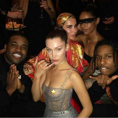 "bel-hadid: """"A$AP Ferg, Bella Hadid, and A$AP Rocky at the Dior Ball in Paris, France "" """