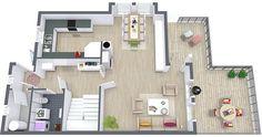 3D Floor Plan Ground Floor