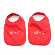 Copy and Paste Baby Bibs in Red