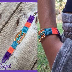 Micro macrame bracelet tribal style More