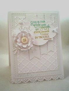 Card by Tricia using Scripture Medley 2 from Verve.  Psalm 46:1 #vervestamps
