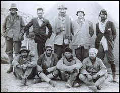 Back Row: 1st left, Sandy Irvine, 2nd left, George Mallory.    The disappearance of British explorers George Mallory and Andrew Irvine on June 8, 1924, during an attempt to become the first to conquer the summit of Mount Everest, has long been shrouded in mystery. The men vanished during their climb, with few hints as to what caused their demise. The puzzle has bedeviled mountaineers and historians ever since.
