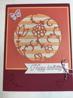 December 2017 Flora and Flutter Paper Pumpkin kit alternative project **photo only Stampin Up Paper Pumpkin, Past Papers, Pumpkin Cards, Alternative Art, Library Card, Scrapbook Cards, Scrapbooking, Diy Cards, Birthday Cards