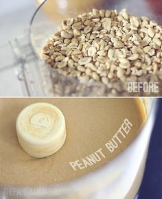 Homemade Peanut Butter. No, the recipe is not peanuts and a stick of butter. It's all peanuts.