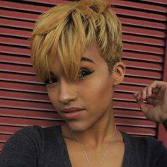 Más de 20 cortes de pelo corto lindos para las mujeres negras //  #Cortes #corto #lindos #más #mujeres #negras #para #pelo Haga clic para obtener más peinados : http://www.pelo-largo.com/mas-de-20-cortes-de-pelo-corto-lindos-para-las-mujeres-negras/