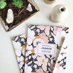 Notebook Set of 2: Night Floral Notebook and Principessa Notebooks - Perfect for traveling this summer! By Paper Raven Co.